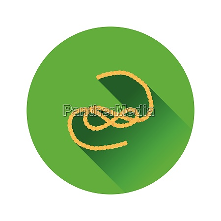 flat design icon of rope