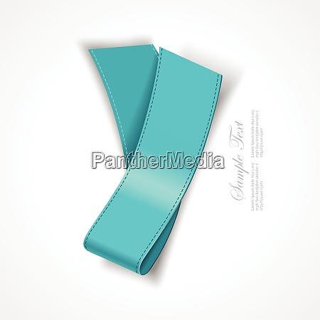 realistic blue silk ribbon vector