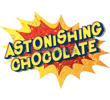 astonishing chocolate comic book style