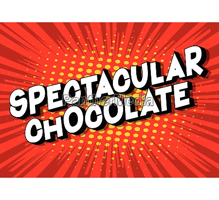 spectacular chocolate comic book style
