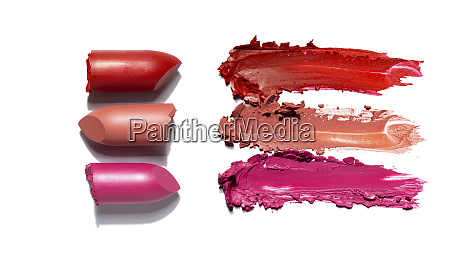 creative concept photo of cosmetics swatches