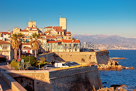 antibes historic old town seafront and