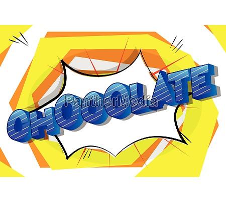 chocolate, -, comic, book, style, phrase. - 26608003