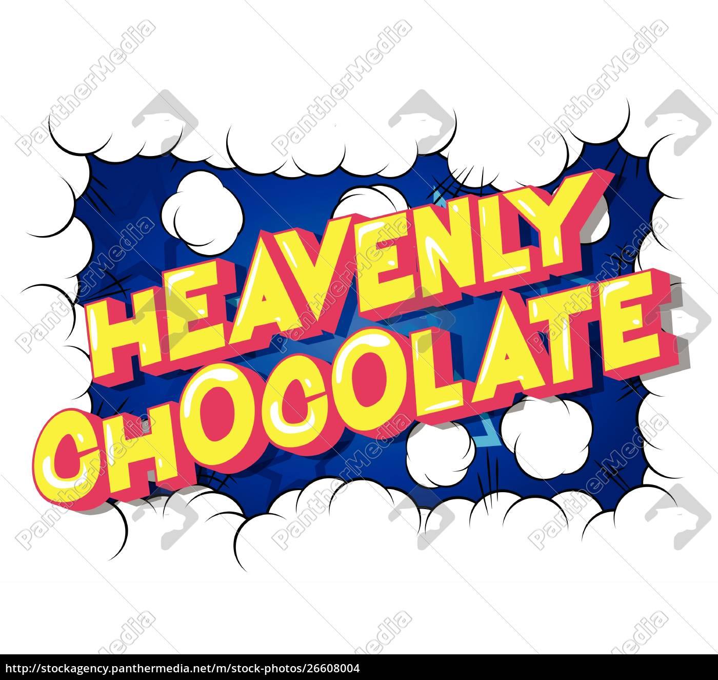 heavenly, chocolate, -, comic, book, style - 26608004
