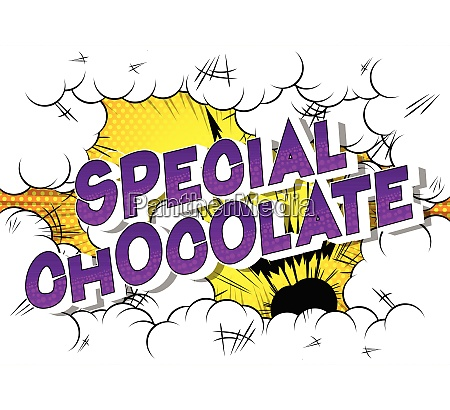special, chocolate, -, comic, book, style - 26608006