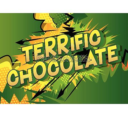 terrific, chocolate, -, comic, book, style - 26608008
