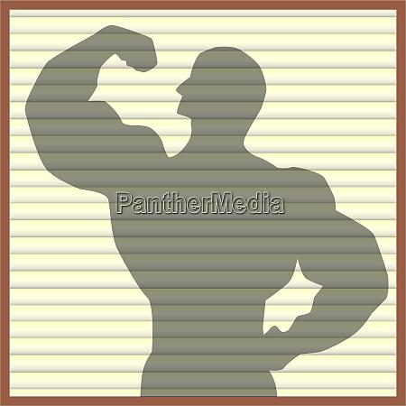 body builder silhouette