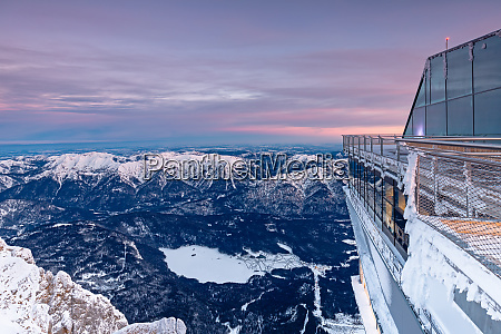 view of frozen lake eibsee from