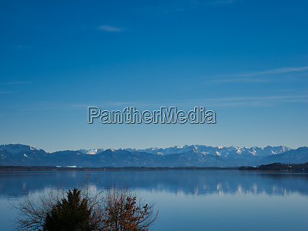 view over lake starnberg to the