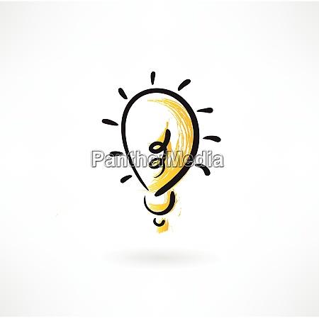 lightbulb grunge icon