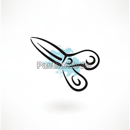 scissors grunge icon