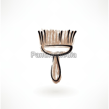 broom grunge icon