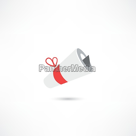 rolled letter icon