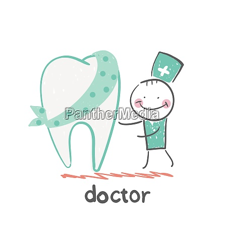 physician and patient tooth