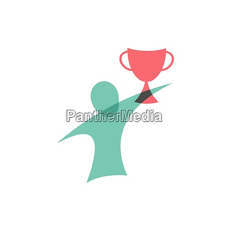 winner with the cup icon logo