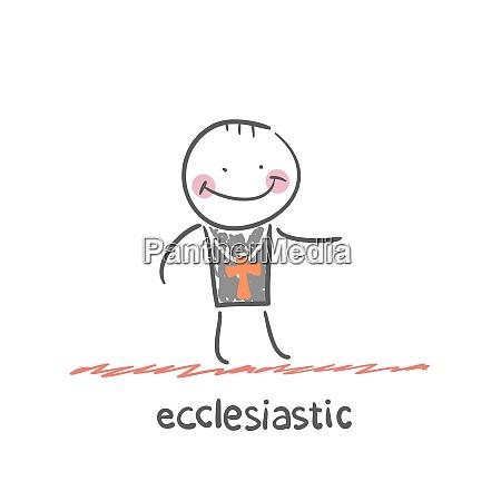 ecclesiastic fun cartoon style illustration the