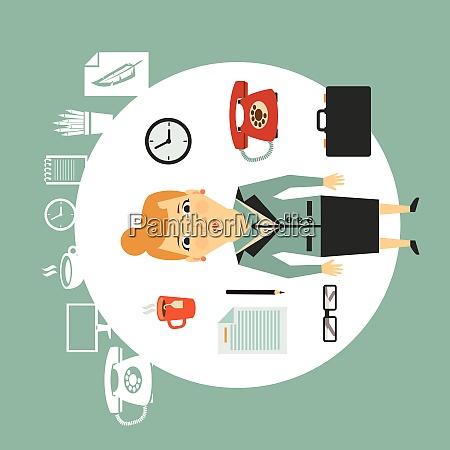 secretary illustration