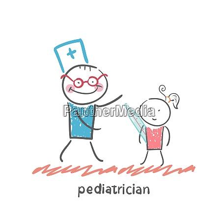 pediatrician checks the child39