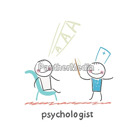 psychologist conducts a stick and the