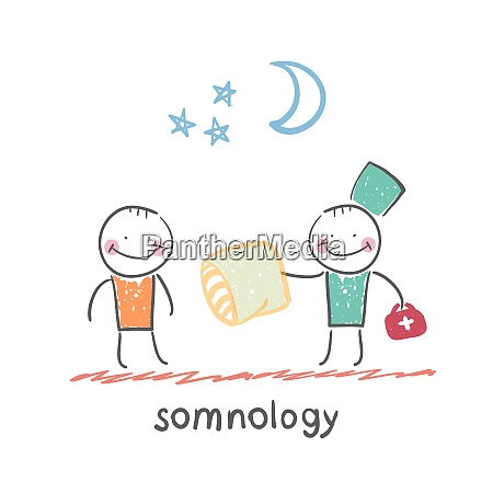 somnology gives the patient a sleep