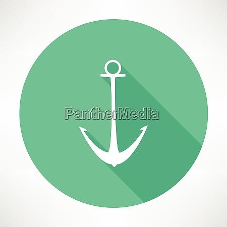 anchor icon flat modern style vector