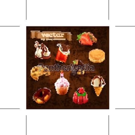 confectionery vector set
