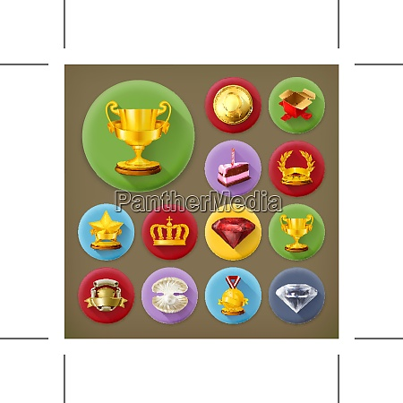 awards and achievement long shadow icon