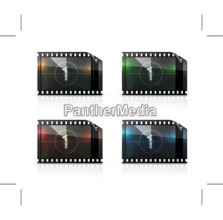 film strip vector set