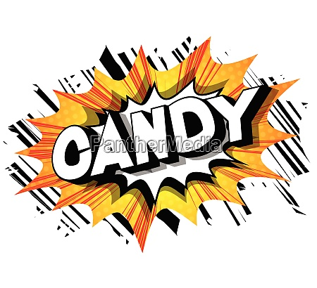 candy comic book style phrase