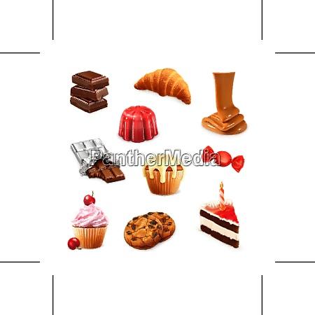 confectionery vector set 3
