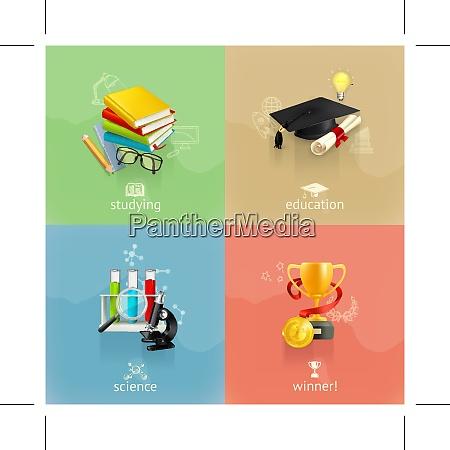 education concepts vector set