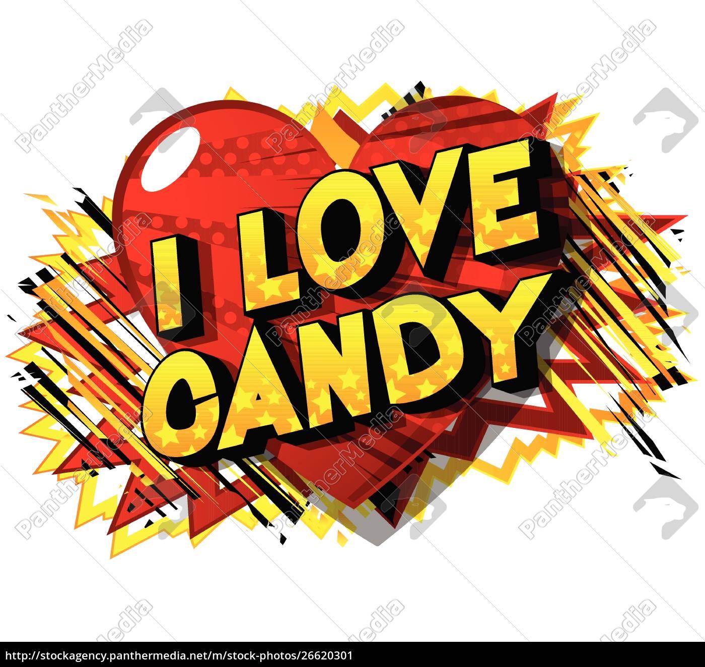 i, love, candy, -, comic, book - 26620301