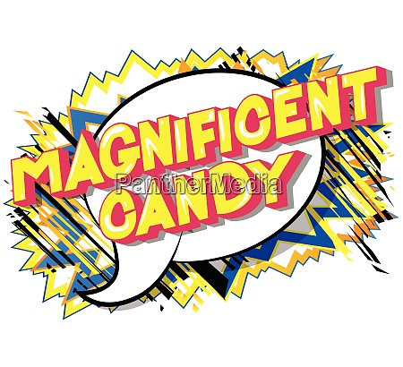 magnificent, candy, -, comic, book, style - 26620306