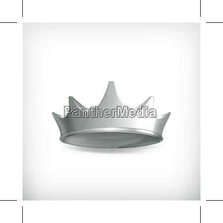 silver crown vector