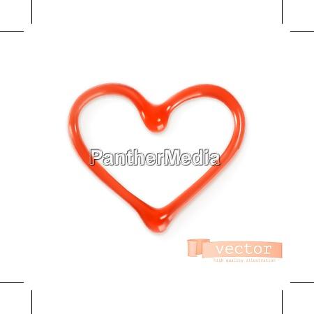 sweet heart vector illustration