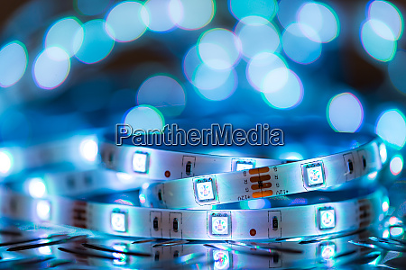 rgb led light strip in front