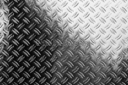 shiny polished aluminum diamond plate metal