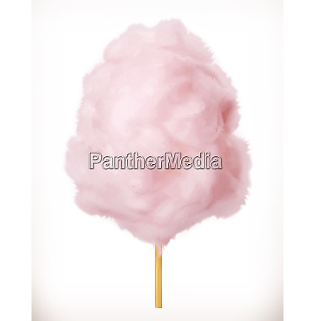 cotton candy sugar clouds 3d vector