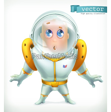 astronaut in spacesuit funny character vector