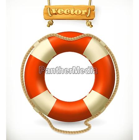 lifebuoy 3d vector icon