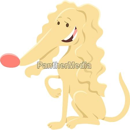 female beige dog cartoon animal character