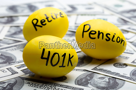 pension eggs over hundred dollar notes