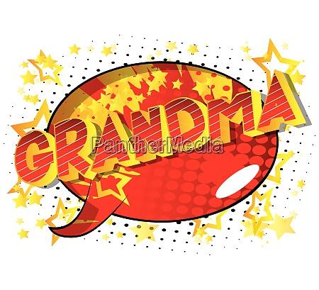 grandma comic book style phrase