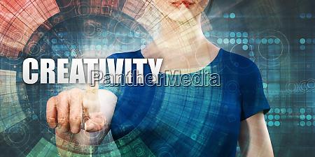 woman accessing creativity
