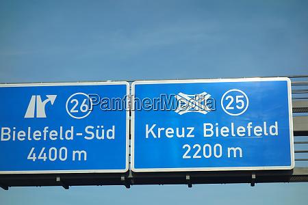federal motorway bielefeld sued kreuz bielefeld