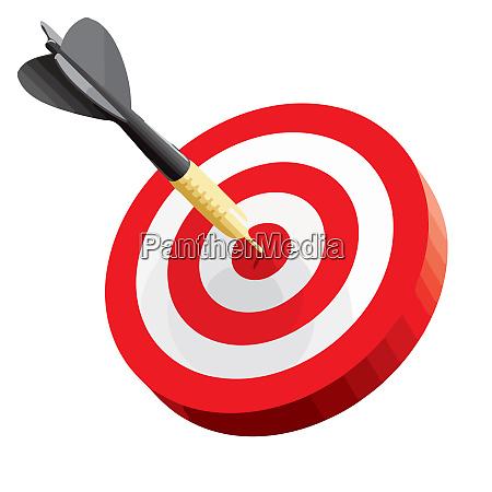 goal leadership archery bullseye achievement perfect