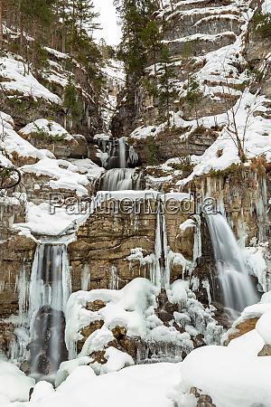 kuhflucht waterfall near farchant garmisch partenkirchen