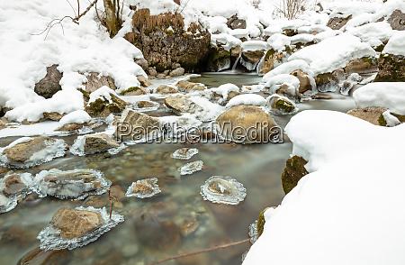 kuhflucht creek near farchant garmisch partenkirchen