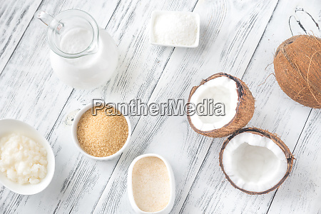 assortment of coconut food