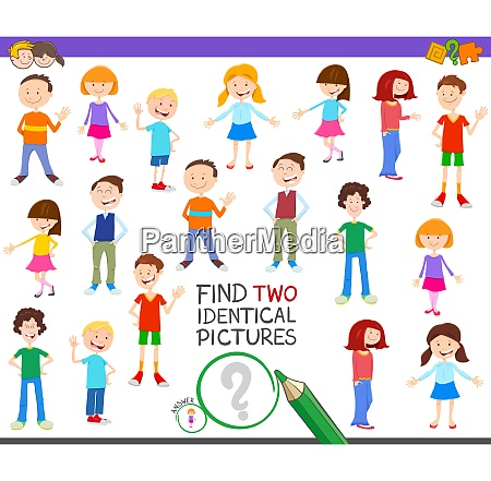 find two identical kid task for
